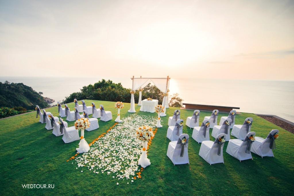 свадьба на закате,свадьба на пхукете,свадьба с видом на океан