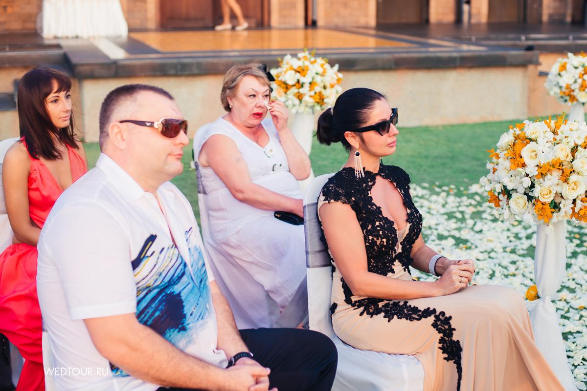 свадьба на пхукет, гости, свадебная церемония