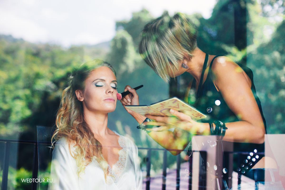 сборы невесты,свадебный макияж и прическа,свадьба на пхукете