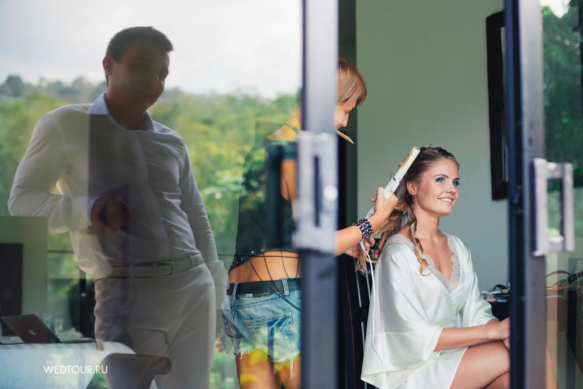 сборы невесты,свадебная прическа,свадьба на пхукете