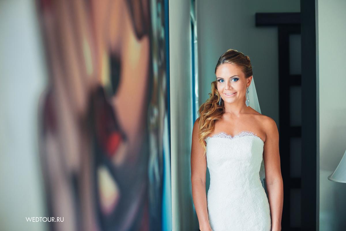 Сборы невесты на вилле на пхукете, фотоссия невесты