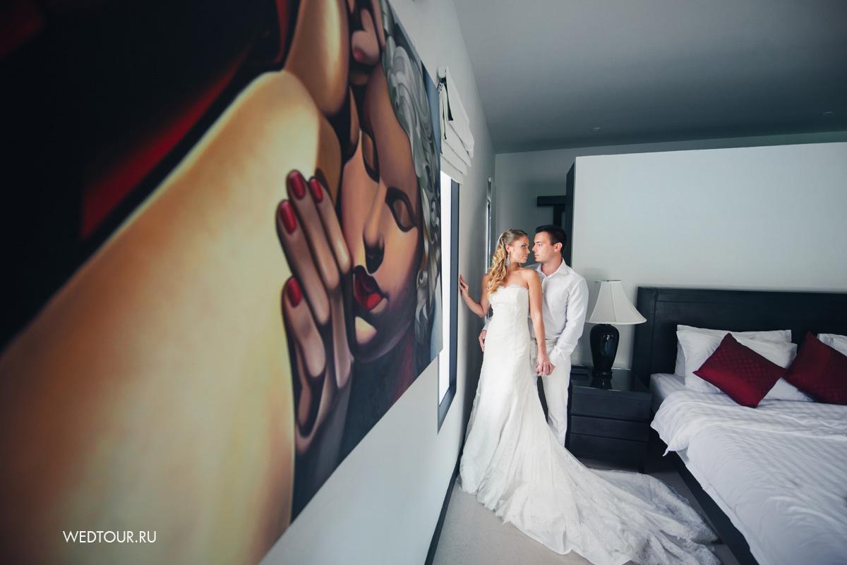жених и невеста подготавливаются к свадьбе,свадьба на пхукете
