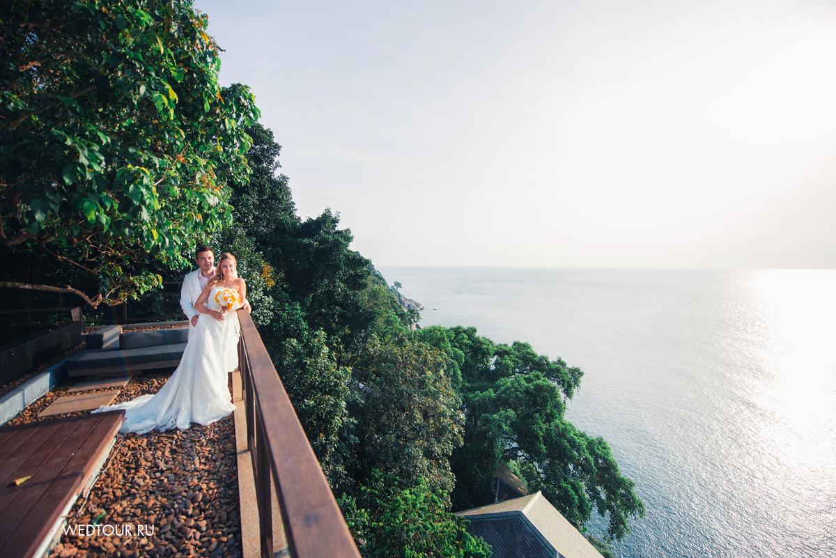 свадьба на пхукете,великолепный вид на океан,свадебная фотоссесия