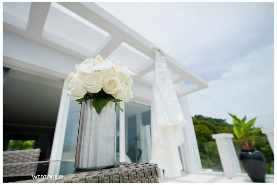 свадьба на вилле и свадебное платье от wedtour