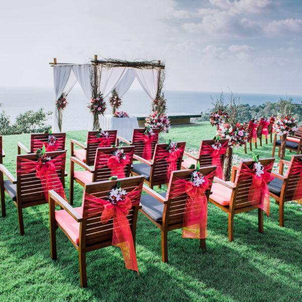 свадьба в стиле рустик, лучший декоратор в таиланде, красная свадьба. бордовая свадьба на самуи