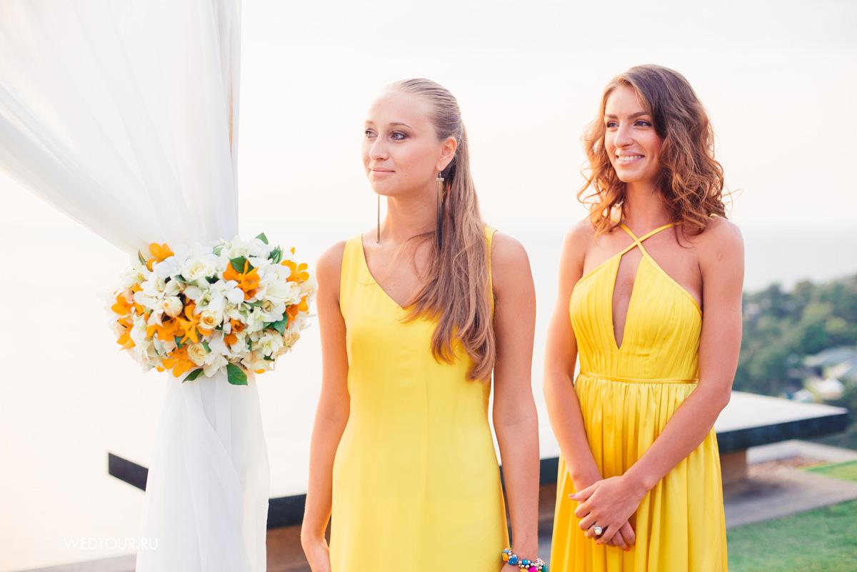 подружки невесты,свадебная церемония в таиланде,свадьба на пхукете,
