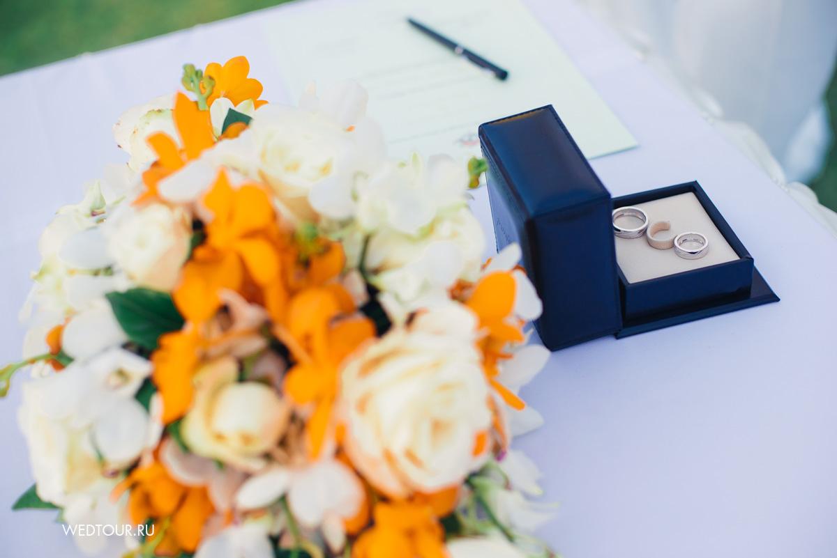 лимонная свадьба,свадьба на острове пхукет,свадебные кольца Chopard