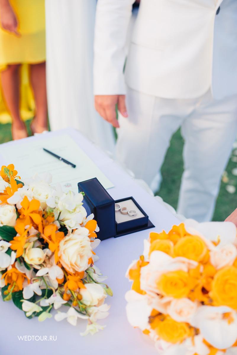 лимонная свадьба,свадьба на острове пхуxкет,обручальныe кольца Chopard