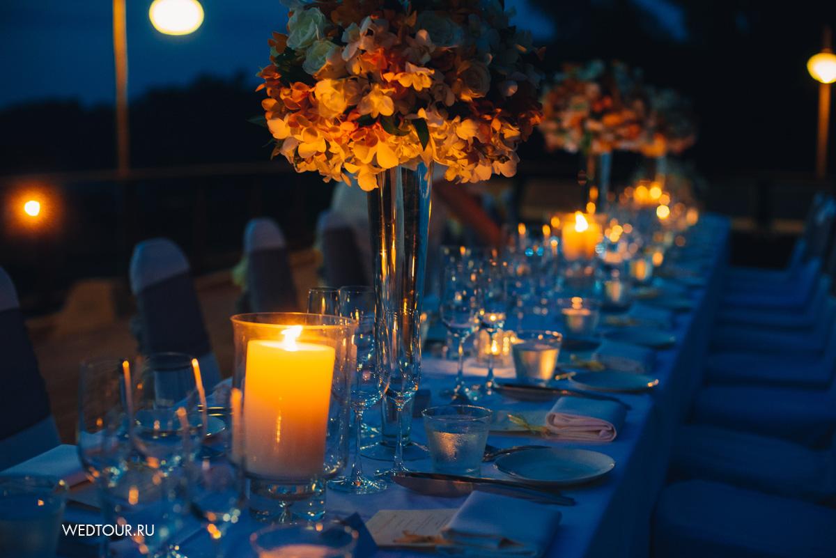 свадебный стол,свадьба в американском стиле,свадьба в таиланде